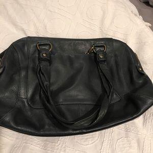 Dark blue shoulder bag